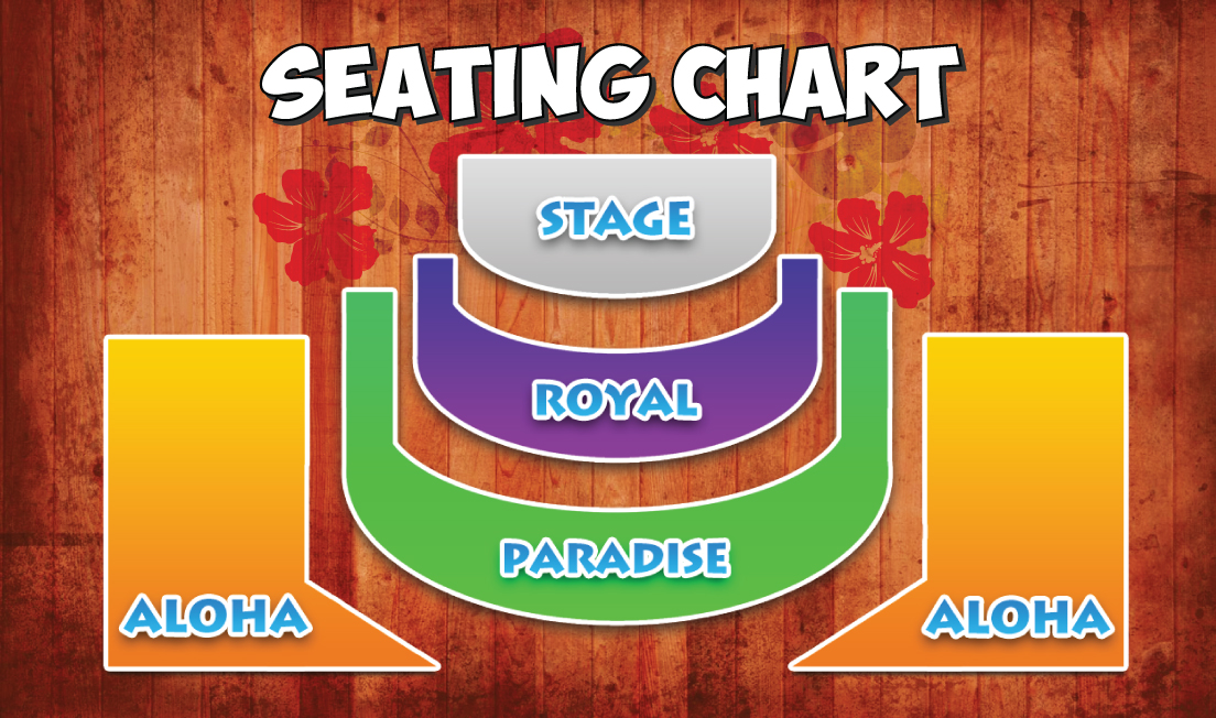 Chief's Luau Seating Chart at Wet'n'Wild Hawaii